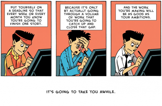 Advice for Beginners by Zen Pencils
