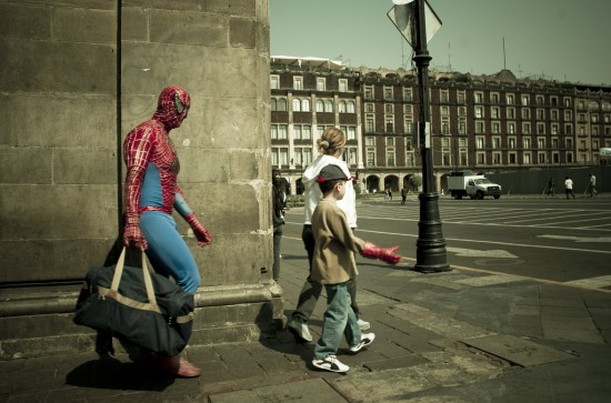Spiderman goes to work