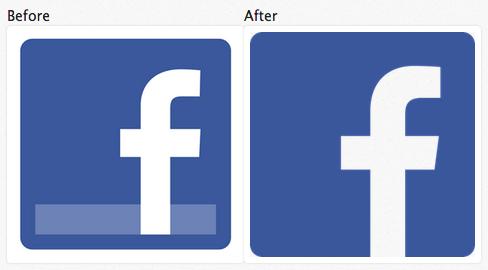 Facebook Logo Flattening