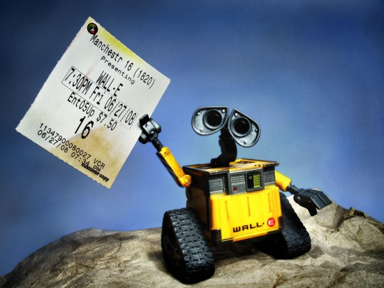 Wall E with a Ticket