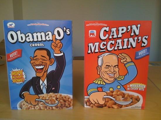 obama o's & cap'n mccain's cereals