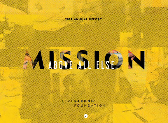 LiveStrong 2012 Annual Report