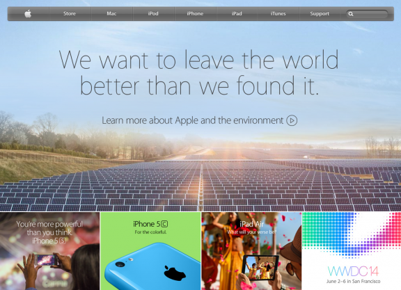 Apple Website 4/24/2014