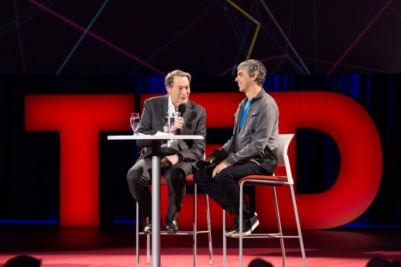 Larry Page and Charlie Rose at TED