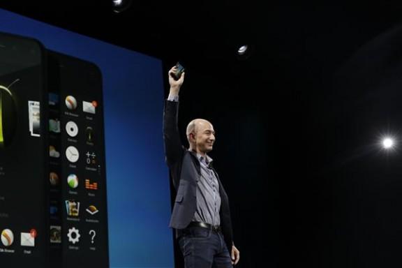 Jeff Bezos unveiling Fire Phone