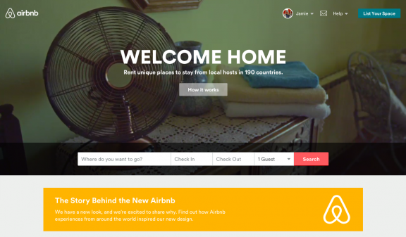 Airbnb welcome home
