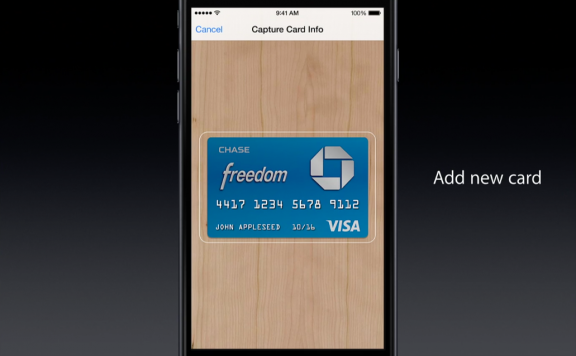 Apple Pay -- add a card