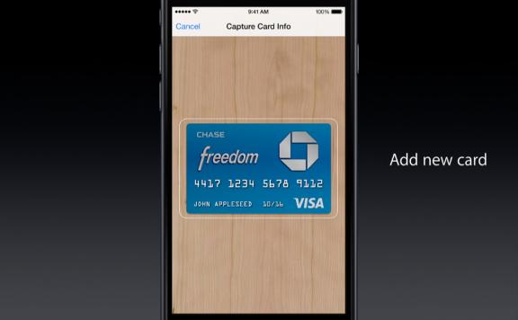 Apple Pay -- add a card