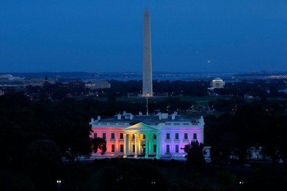 Rainbow White House #lovewins
