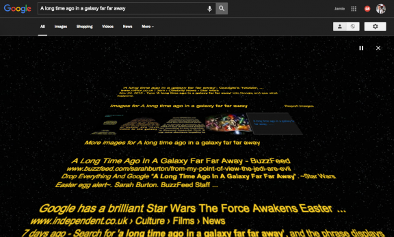 Google a long time ago in a galaxy far far away
