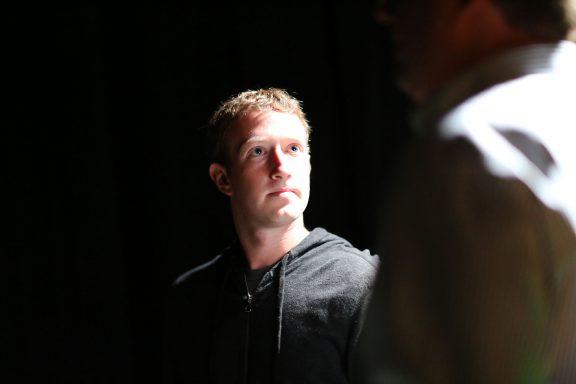 Mark Zuckerberg at Techcrunch Disrupt SF 2013. Photo by Max Morse for Techrunch.